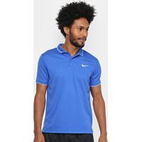 Camisa Polo Nike Dry Team Masculina - Masculino-Azul Royal+Branco