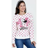 Blusa Juvenil Moletom Estampa Minnie Disney