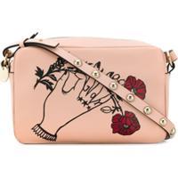 Red Valentino Bolsa Transversal X Poppy'S Papercuts Heart'S Tale #3 Joy - Rosa