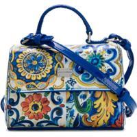 Dolce & Gabbana Kids Bolsa De Couro Com Estampa 'Majolica' - Estampado