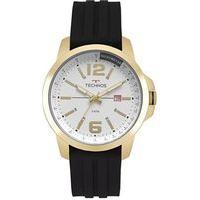 Relógio Technos Masculino Com Fundo Champagne - 2115Mro/8P Preto