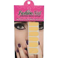 Adesivo Unha Fashion Nail Metálica Dourada 1 Cartela Com 16 Adesivos