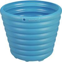 Cachepô Vaso Para Flores Azul 1,7L