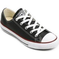 Tênis Infantil Converse All Star Chuck Taylor - Unissex-Preto+Vermelho