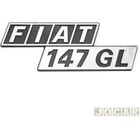 """Letreiro - Alternativo - 147 1976 Até 1988 - """"Fiat 147 Gl"""" - Cola - Cada (Unidade)"""