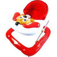 Andador Bebê Infantil Musical Recreativo Baby Style Cachorro Vermelho