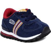 Tênis Infantil Para Bebê Menino - Azul Marinho Bordô 212873f240885