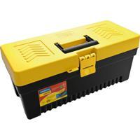 Caixa Plástica Para Ferramenta Injetada Utility Ii Preta E Amarela 17 L