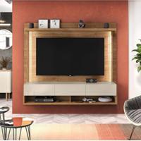Painel Home Suspenso Para Tvs Até 50 Polegadas Com Suporte Para Tv Magnific 1.8 Caemun Buriti/Off White