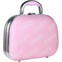 Maleta De Maquiagem Pequena Fenzza - Pin Up Lettre Collection Pink Maleta De Maquiagem - Feminino-Incolor