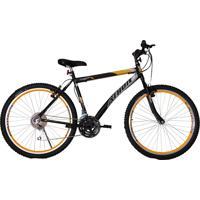 Bicicleta Aro 26 Mtb 18 Marchas Jet Preta/Amarelo Athor Bikes