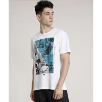 Camiseta Masculina Esportiva Ace Basquete Manga Curta Gola Careca Off White