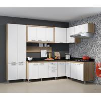 Cozinha Completa Edéia I 16 Pt 3 Gv Argila E Preto