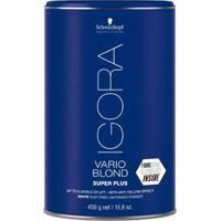 Pó Descolorante Schwarzkopf Professional Igora New Vario Blond Super Plus 450G - Unissex-Incolor