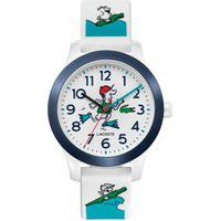 Relógio Lacoste Infantil Borracha Branca E Verde - 2030029