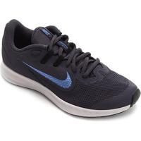 Tênis Infantil Nike Downshifter 9 Gs - Unissex-Azul+Preto