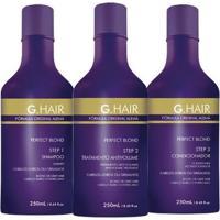 G Hair Escova Progressiva Perfect Blond - 3X250Ml