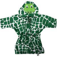 Roupão C/ Capuz Bebê Verde - Incomfral