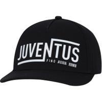 Boné Aba Reta Juventus Adidas - Snapback - Adulto - Preto/Branco