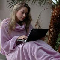 Cobertor Com Mangas Lilas