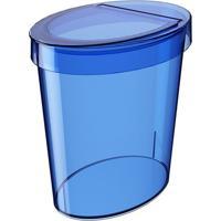 Lixeira Glass Oval- Azul Escuro- - 5L- Cozacoza