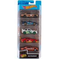 Carrinhos Hot Wheels Pack Com 5 Nightburnerz - Mattel