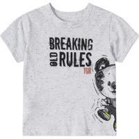 Camiseta Bebê Tigor T. Tigre Masculina - Masculino-Cinza