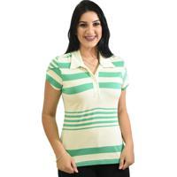 Blusa Moché Camisa Polo - Feminino-Verde