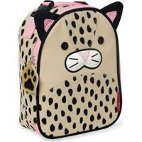 Lancheira Infantil Skip Hop - Linha Zoo - Coleção Leopardo - Feminino-Bege