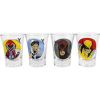 Conjunto De 4 Copos Shot Em Vidro 60 Ml X-Men