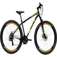 Bicicleta Mtb Caloi Vulcan Aro 29 - Susp Diant - Quadro 17 - Shimano - 21 Vel - Freio A Disc - Cinza