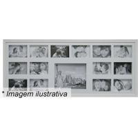 Painel Para 15 Fotos- Branco- 43X103X3Cm- Kaposkapos