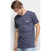Camiseta Hang Loose Stripe Masculina - Masculino-Marinho
