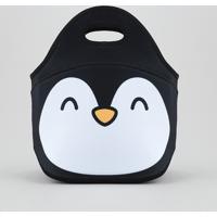 Lancheira Pinguim Preta - Único