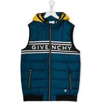 Givenchy Kids Blusa Color Block Com Logo - Azul