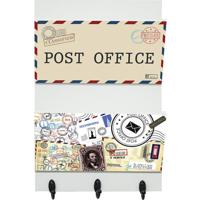 "Porta Cartas ""Post Office""- Off White & Preto- 30X20Kapos"