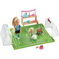 Boneca Barbie - Barbie Dreamhouse Adventures - Chelsea - Futebol Com Cachorrinhos - Mattel - Tricae