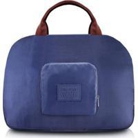Bolsa De Viagem Jacki Design Dobrável - Unissex-Azul Escuro