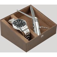 Kit De Relógio Analógico Mondaine Masculino + Canivete - 53599G0Mvne1Kc Prateado - Único