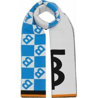 Burberry Echarpe Com Logo Gráfico - Azul