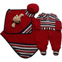 Saída De Maternidade Letícia Enxovais Naninha Baby Vermelho