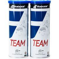 Bola De Tênis Babolat Team Pack Com 02 Tubos - Unissex