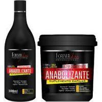 Kit Força E Nutrição - Shampoo Hidratação E Fortificação E Creme Anabolizante Capilar - Forever Liss