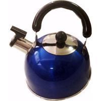 Chaleira Em Aço Inox Com Apito Azul