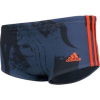 Sunga Adidas 3S Gra - Adulto - Azul/Vermelho