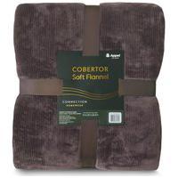 Cobertor Soft Flannel Cationic Queen 2,20X2,40 - Chocolate - Appel