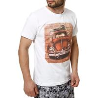 Camiseta Manga Curta Masculina Manobra Radical Branco