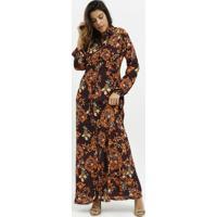 Vestido Longo Arabescos- Bordã´ & Dourado- Milioremiliore
