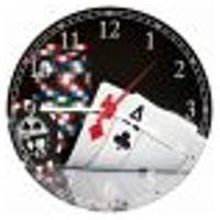 Relógio De Parede Baralho Cartas Pôquer Decorar Sala De Jogos