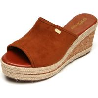 Tamanco Dafiti Shoes Anabela Caramelo